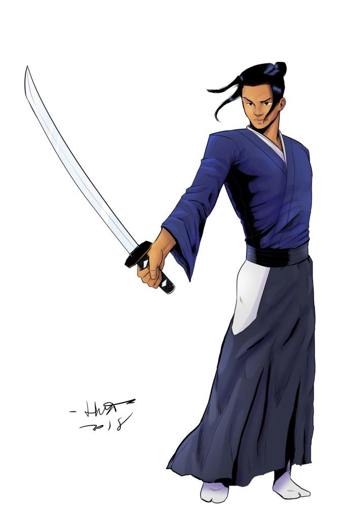 The Sword of Kaigen art by Kal Huset