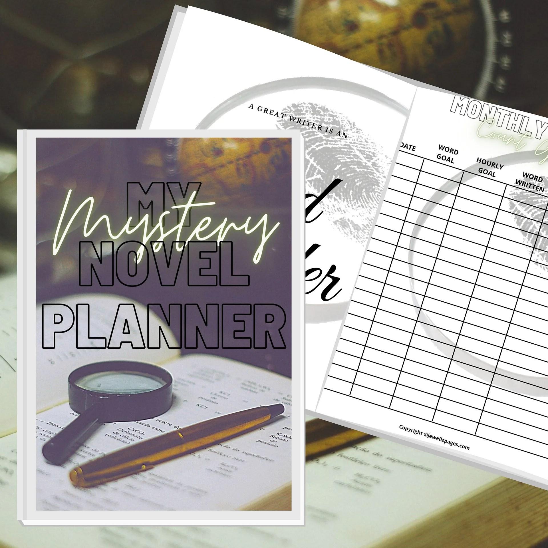 Mystery Book Planner Printable Workbook