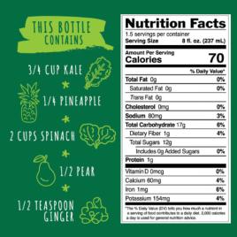 Ginger Greens Nutritional Ingredients