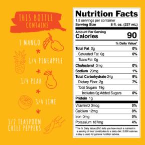 Spicy Mango Nutrition Ingredients