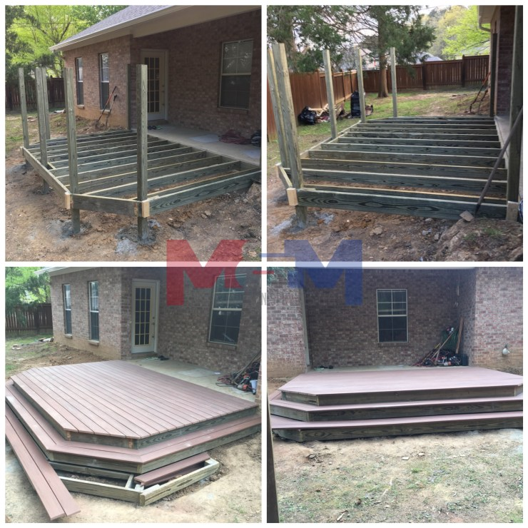 Licenced contractor deck construction in Brandon Ms