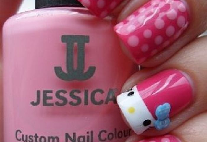 Uñas Decoradas Hello Kitty 2013