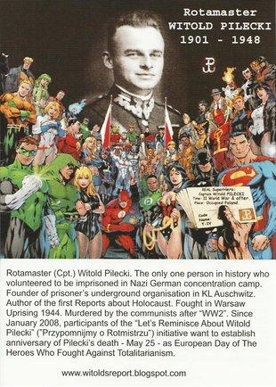 """Angielska wersja ulotki akcji społecznej """"Przypomnijmy o Rotmistrzu"""" (""""Let's Reminisce About Witold Pilecki"""")"""
