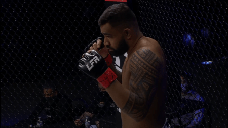 Zac Pauga gets readies his fists for an LFA fight.