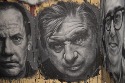 Collective work - Portraits of Richard Prince, Francis Bacon & Christo (C)  thierry Ehrmann 2020. Courtesy Contemporary Art Museum L'Organe / La Demeure du Chaos / Abode of Chaos