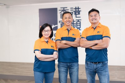HKBN announces resilient FY20 growth across all business fronts. [From left] Co-Owner and Chief Strategy Officer Almira Chan, Co-Owner and Executive Vice-chairman William Yeung, and Co-Owner and Group CEO NiQ Lai.