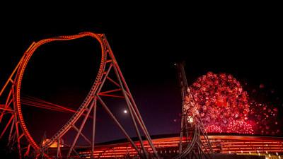 Fireworks show for Ferrari World Abu Dhabi's 10th anniversary