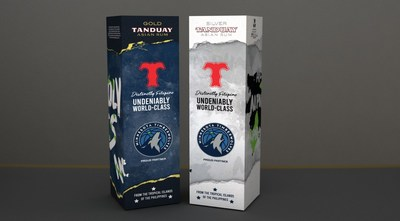 Tanduay Distillers has inked a partnership with the Minnesota Timberwolves. As part of the deal, they are releasing a co-brand packaging of Tanduay Rum products for the fans.