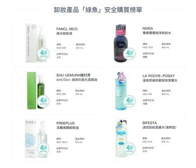 水中銀第41期卸妝產品「綠魚」安全購買榜單