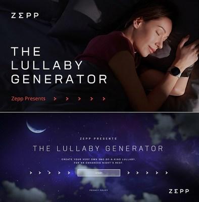 世界睡眠日當天為您的親朋好友創作一首搖籃曲。網址:http://www.zepplullaby.com/