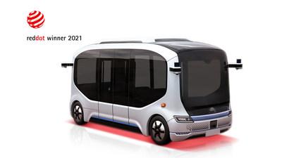 宇通設計的自動駕駛巴士「小宇2.0」 榮獲2021年紅點獎