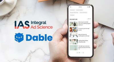 Dable,全球領先個人化推薦行銷科技平台,與全球數位媒體品質監測領導者 Integral Ad Science合作,推出強化品牌安全解決方案,為廣告商保護品牌資產。