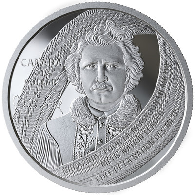 The Royal Canadian Mint's silver collector coin commemorating Louis Riel (CNW Group/Royal Canadian Mint)
