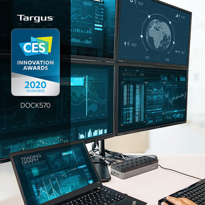 Targus earns second CES® 2020 Innovation Award for World's First USB-C™ Universal Quad 4K Docking Station with Power.