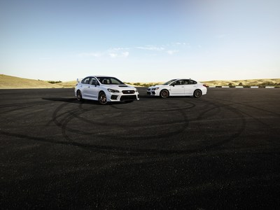Subaru Unveils Limited-Edition 2020 WRX and WRX STI Series.White at 2019 Los Angles Auto Show