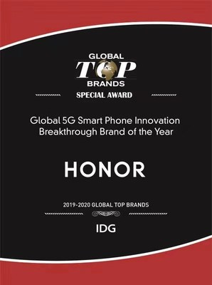 HONOR Crowned Top 15 Global Smart Phone Brand of the Year and Global 5G Smart Phone Innovation Breakthrough Brand by IDG