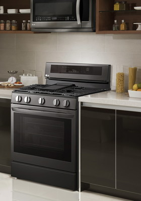 """LG Electronics USA is delivering a better cooking experience at home with the launch of four new smart ranges featuring the brand's iconic """"knock on"""" InstaView™ technology along with Air Fry functionality for faster, healthier meals made conveniently at home."""