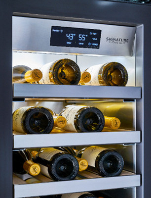 Another unique smart appliance innovation highlighted at KBIS, the True Sommelier™ app (available exclusively on Signature Kitchen Suite's award-winning integrated wine column re-frigerators), helps wine aficionados manage their at-home collections. Powered by Wine Ring's patented machine learning, this is the first smart software that learns preferences and makes wine recommendations, including food and wine pairings, for individuals and groups based on the wines stored in the user's cellar.