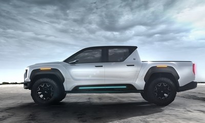 Nikola unveils The Badger, the world's most advanced zero-emission fuel cell-electric/ battery-electric pickup truck.