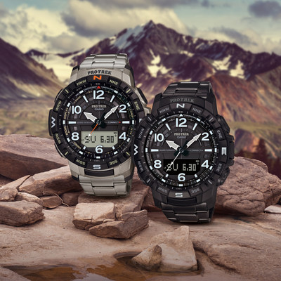 Casio expands PRO TREK lineup with new PRT-B50 titanium timepieces