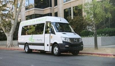 Shown: A GreenPower Motor EV Star electric bus