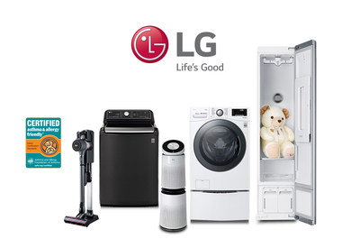 LG Electronics USA offers an expanded portfolio of home appliances CERTIFIED asthma & allergy friendly® by the experts at the Asthma and Allergy Foundation of America (AAFA) for their advanced cleaning and sanitization capabilities.