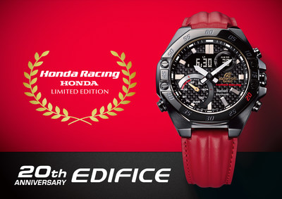 Casio marks 20th anniversary of EDIFICE collection with limited edition Honda racing timepiece