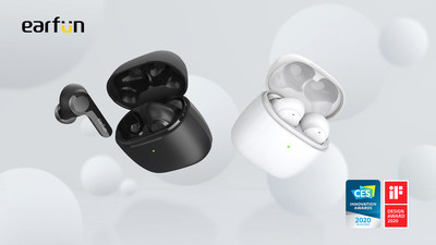 EarFun Air - The World's 1st True Wireless Earbuds wins both CES 2020 Innovation Award and the iF Design Award 2020.