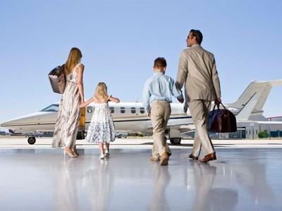 Family private jet travel