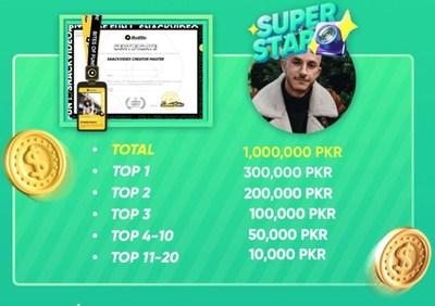 Prize list - SnackVideo announces Winners of 1,000,000 PKR Creator Academy