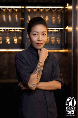 DeAille Tam, executive chef and co-founder of Obscura in Shanghai, has won the title of Asia's Best Female Chef 2021, sponsored by Cinco Jotas