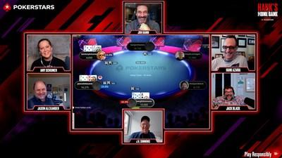 Hank is joined by Jack Black, JK Simmons, Jason Alexander, Amy Schumer and Jon Hamm (PRNewsfoto/PokerStars.net)