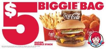 Major Bag Alert: Wendy's Fan-Favorite Bacon Double Stack™ Is Back in the Biggie™ Bag
