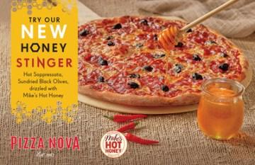 Pizza Nova to launch HONEY STINGER Signature Pizza