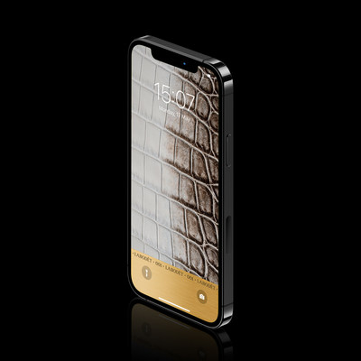 The first luxury NFT wallpaper by Labodét сrafted from Niloticus leather and 18k gold