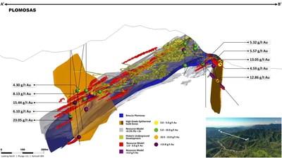 Figure 2 – 3D Representation of the Plomosas Mine Area (CNW Group/GR Silver Mining Ltd.)