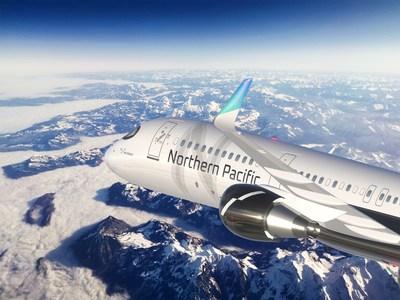 Northern Pacific Airways plane rendering