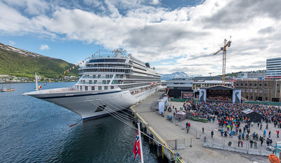 Viking Cruises officially christened its third ocean ship, Viking Sky, during a public celebration in Tromsø, Norway. Viking guests and residents of Tromsø were treated to a public concert, with performances from a variety of esteemed Norwegian musicians. Visit www.vikingruises.com for more information.