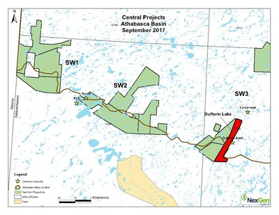 Figure 1. Location Map (CNW Group/NexGen Energy Ltd.)