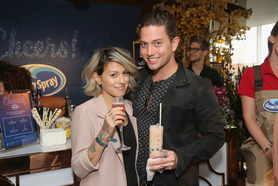 LOS ANGELES, CA - SEPTEMBER 14: Sheila Hafsadi and Jackson Rathbone attend Kari Feinstein's Style Lounge presented by Ocean Spray at the Andaz Hotel on September 14, 2017 in Los Angeles, California. (Photo by Rebecca Sapp/WireImage)