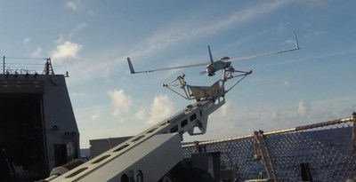 Launching Insitu's ScanEagle Unmanned Aerial Vehicle (UAV) (CNW Group/Ballard Power Systems Inc.)