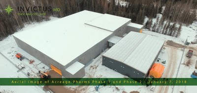 Aerial Image of Acreage Pharms Phase 1 and Phase 2 - January 7, 2018 (CNW Group/Invictus MD Strategies)