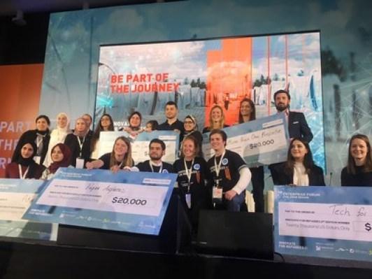 Les 5 équipes gagnantes (PRNewsfoto / MITEF)