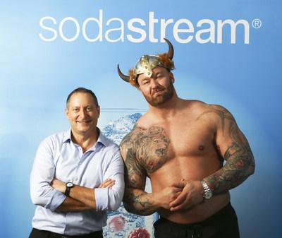 SodaStream CEO Daniel Birnbaum & Game of Thrones actor Thor Bjornsson