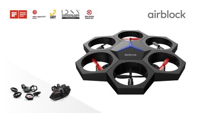 iF DESIGN AWARD winner the modular and programmable drone Airblock