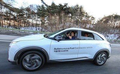 Hyundai Showcases World's First Self-driven Fuel Cell Electric Vehicle - SEOUL, Feb. 4, 2018 – A fleet of Hyundai Motor Company's next generation fuel cell electric cars have succeeded in completing a self-driven 190 kilometers journey from Seoul to Pyeongchang. This is the first time in the world that level 4 autonomous driving has been achieved with fuel cell electric cars, the ultimate eco-friendly vehicles.
