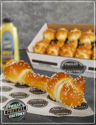 """On January 21st, the morning of the NFC Championship game, a franchisee in Pennsylvania came up with an idea to create a pretzel in the shape of a dog bone, referring to it as an """"underdog pretzel bone.� He sold them, donating proceeds to his local animal shelter. Once the news made its way through the franchise system, additional locations across state lines began making the """"underdog pretzel bones� over the last two weeks, donating part of the proceeds to local animal shelters."""