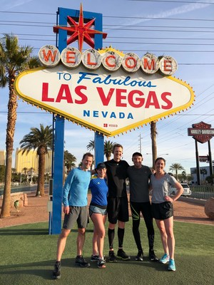 Lyft Business VP Gyre Renwick and team logging miles for the emids CXO Challenge during HIMSS 2018 in Las Vegas. Renwick won the Challenge, earning a $5,000 donation to Lyft's charity of choice, Fast Forward plus $5,000 to the HIMSS general scholarship fund.