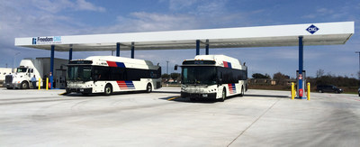 Freedom CNG Metro Station - Houston, Texas. Freedom CNG currently operates and supplies four stations with a NEW station at Greenshadow Dr and Texas 8 Beltway opening soon.