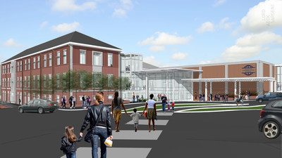 Rendering of the new Primary School Learning Center at Atlanta International School, one of three projects being built by SG Contracting in Atlanta.